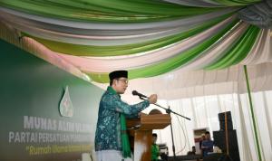 Gubernur Jawa Barat, Ridwan Kamil mempresentasikan strategi kepemimpinannya membangun program keumatan di Jawa Barat berdasarkan nilai Pancasila dalam bingkai NKRI. Dok: humas.jabarprov.go.id.
