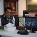 Gubernur Jawa Barat, Ridwan Kamil menyampaikan kemacetan lalu lintas di kawasan aglomerasi perlu disikapi Pemda kabupaten/kota dengan disiplin dan penegakan hukum protokol kesehatan. Dok: humas.jabarprov.go.id.